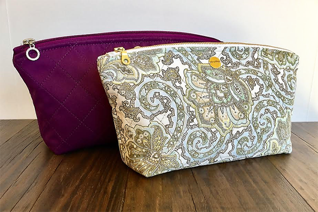 Quilted Makeup Bag Sewing Pattern