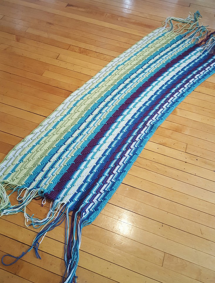Mary Catherine's blanket after three months.