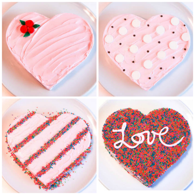 4 Fast and Fun Simple Heart Cake Designs