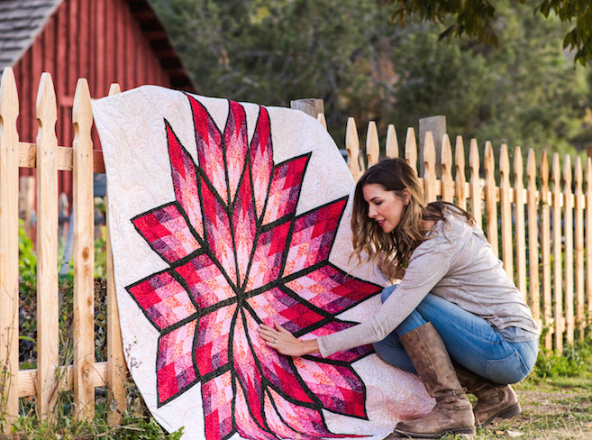 Prismatic Star Pink Quilt Kit
