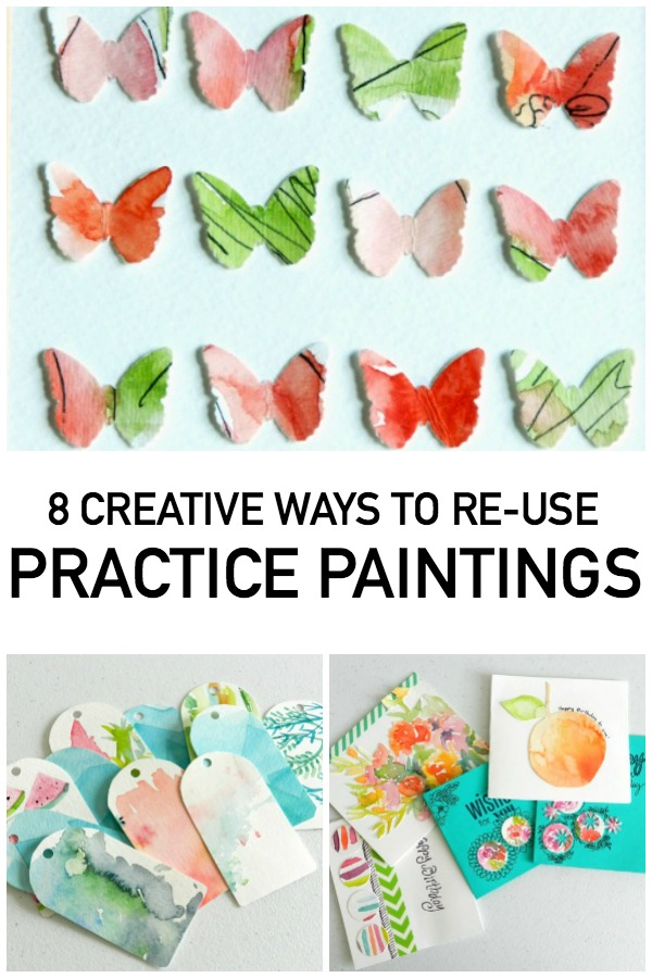 Wondering what to do with old practice paintings? We've got eight creative ideas for you.