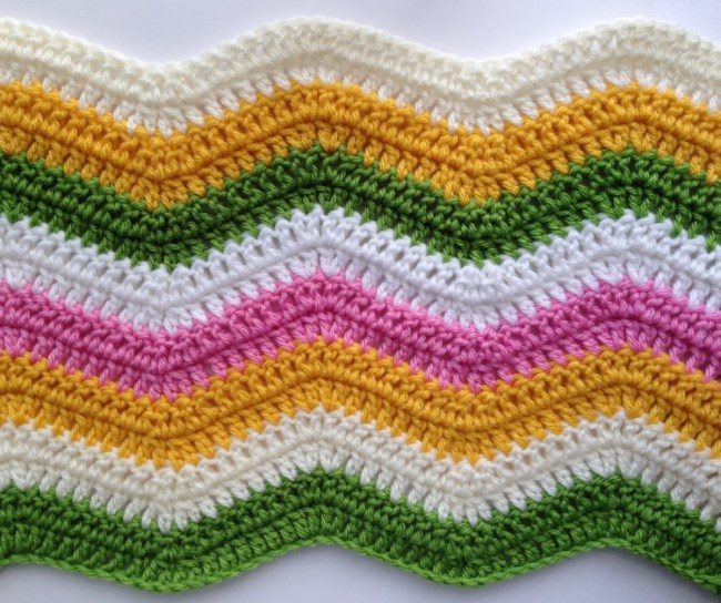 Ripple crochet pattern sample
