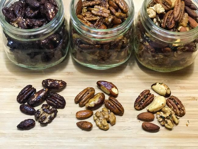three roasted nuts recipes