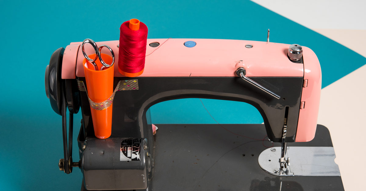 #CraftSavvy Tip No. 10: Tape an empty thread cone on the end of your machine to hold your scissors at the ready.