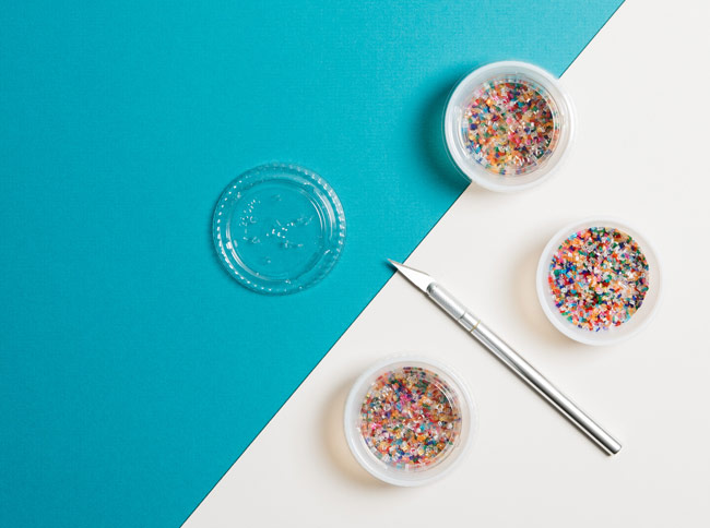 #CraftSavvy Tip No. 15: Stash sprinkles in the small plastic takeout containers that restaurants use for sauce.
