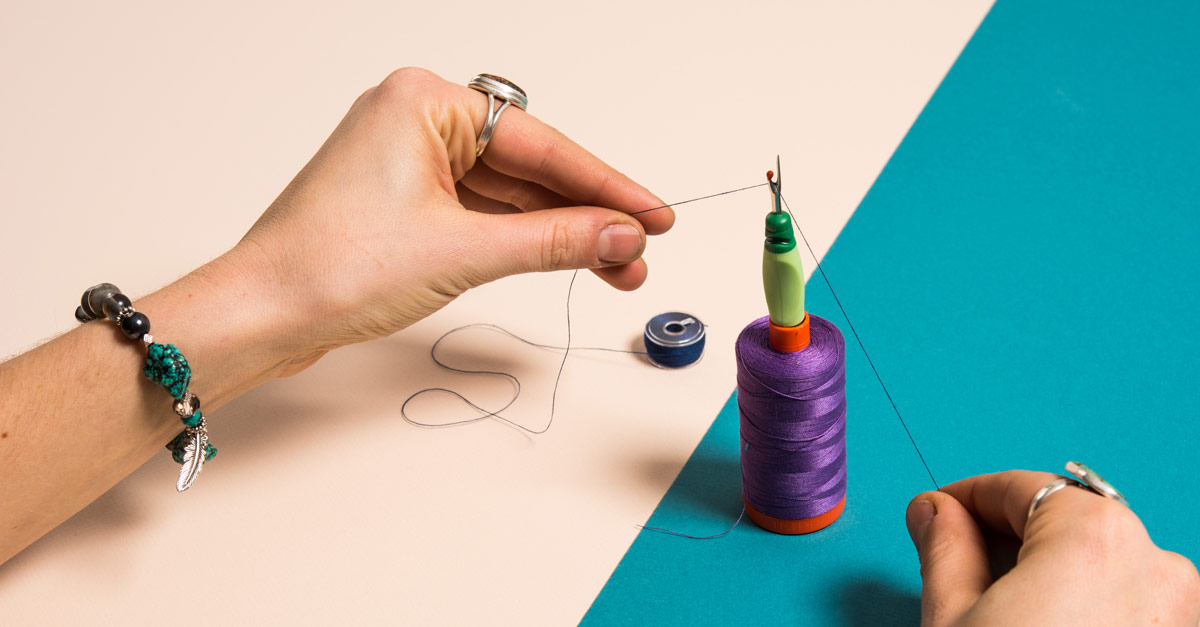 #CraftSavvy Tip No. 15: Create your own cutting tool for chain piecing by using a barrel seam ripper and spool.
