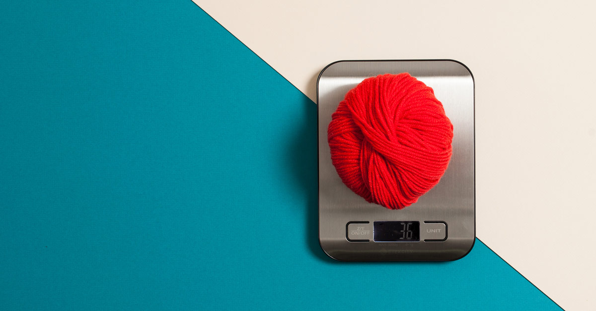 #CraftSavvy Tip No. 3: : Weigh your yarn on a portable digital scale while you knit. You'll never run out of yarn again!