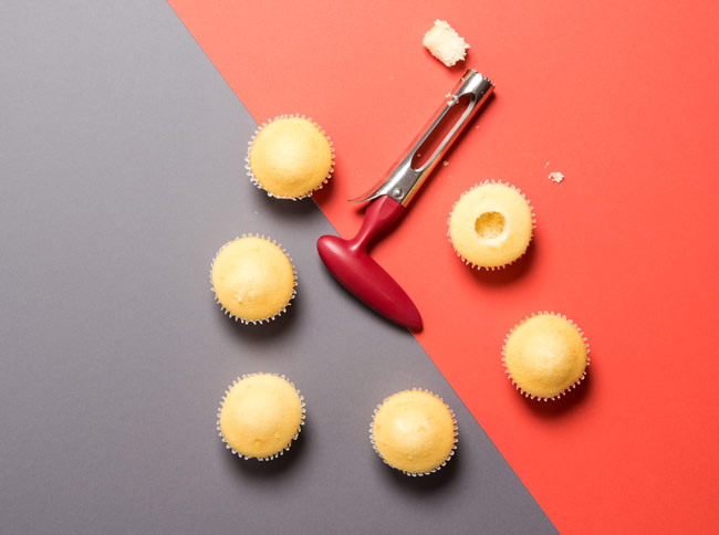 #CraftSavvy Tip No. 7: The best way to core cupcakes is with an apple corer — no freezing necessary!