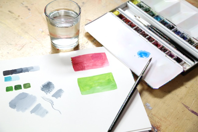 Watercolor Painting Workspace