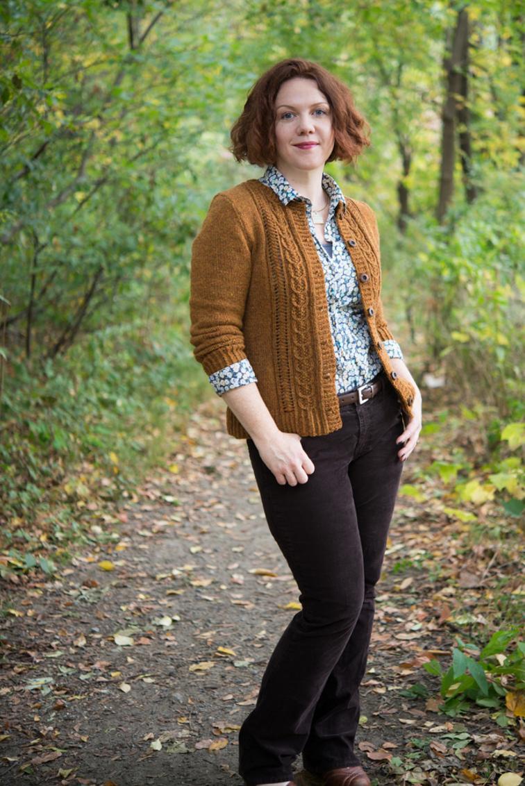 Acorn Trail Cardigan Knitting Pattern