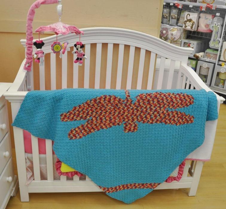 Dragonfly Crochet Blanekt