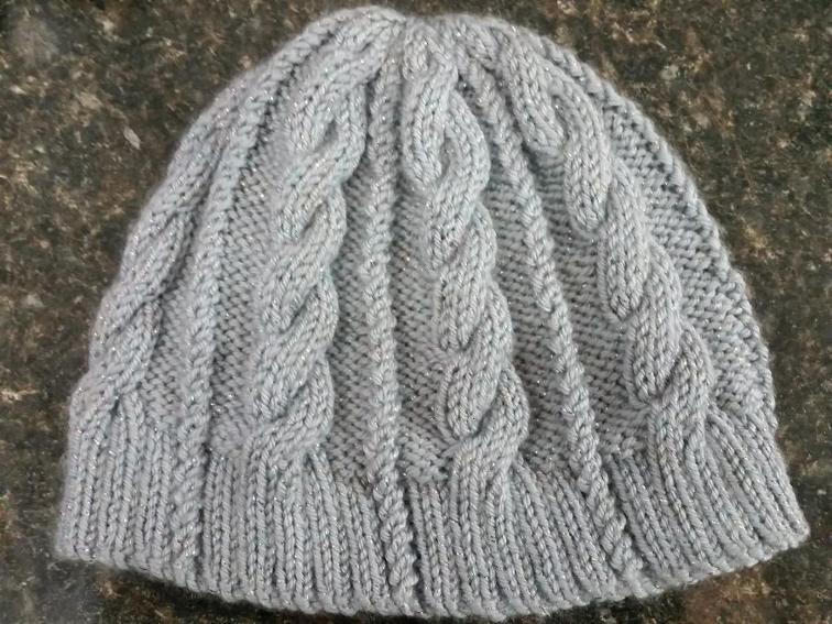 Cabled Ponytail Jogger's Hat Knitting Pattern