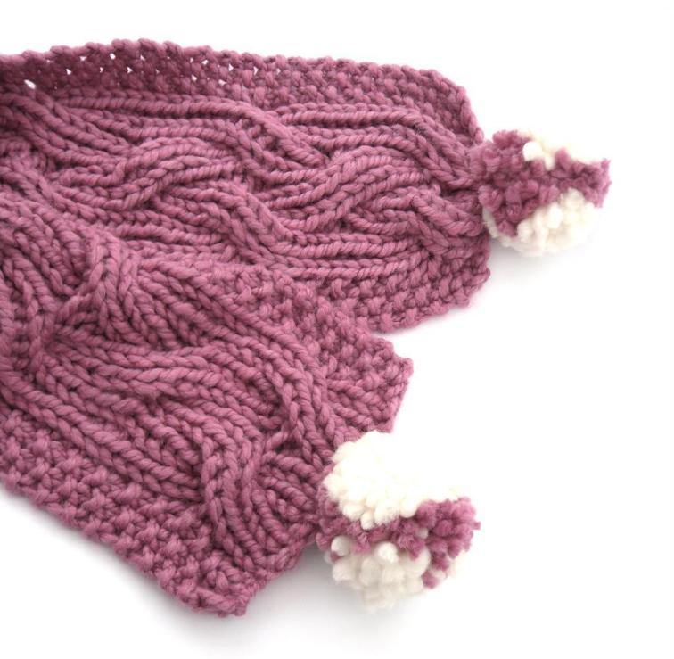 Chunky Reversible Cable Scarf Knitting Pattern