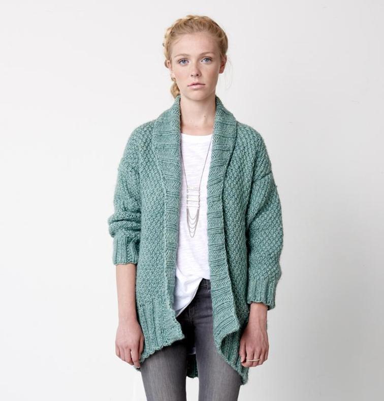 Cocoon Cardigan Sweater Knit Kit