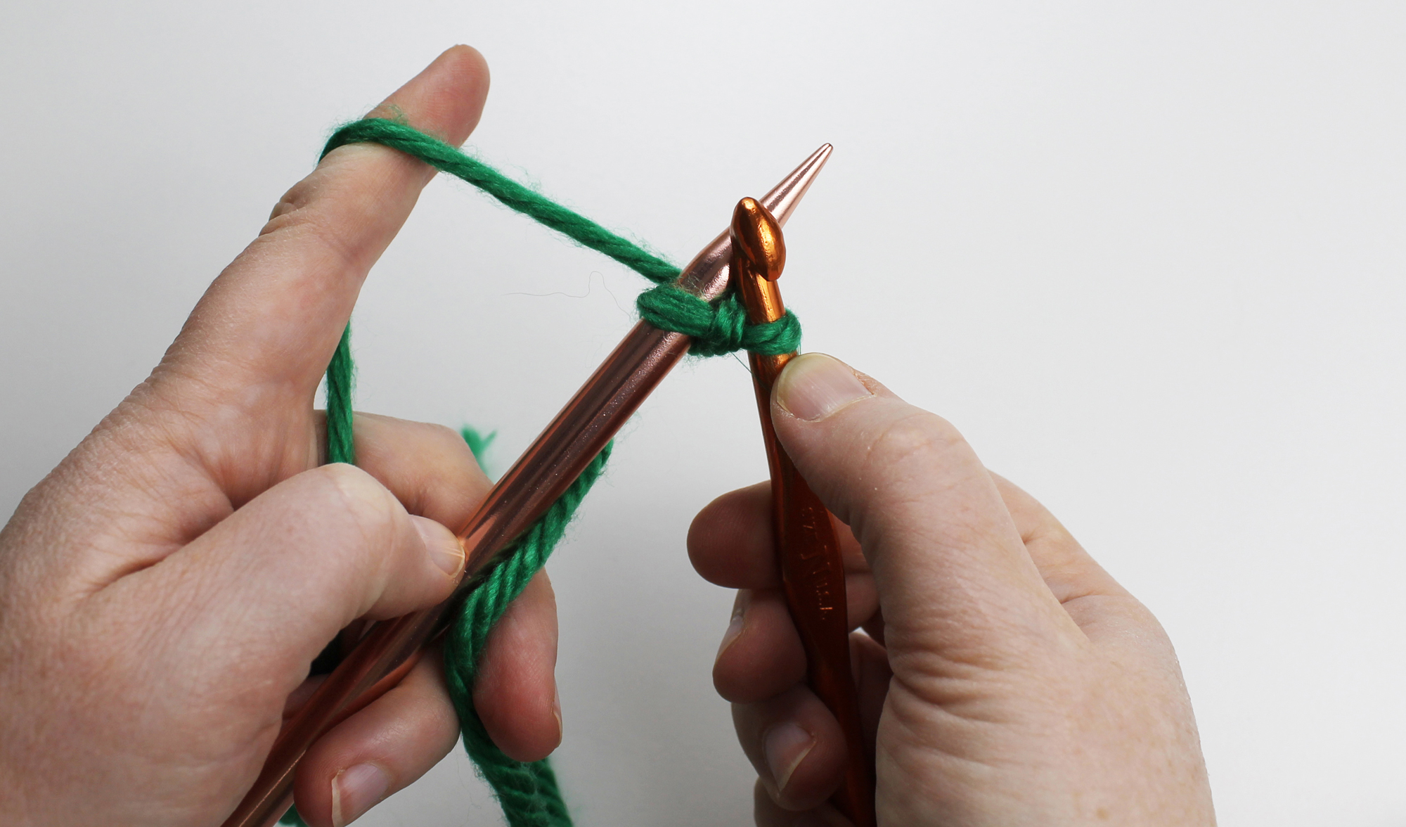 Crochet cast on Step 5