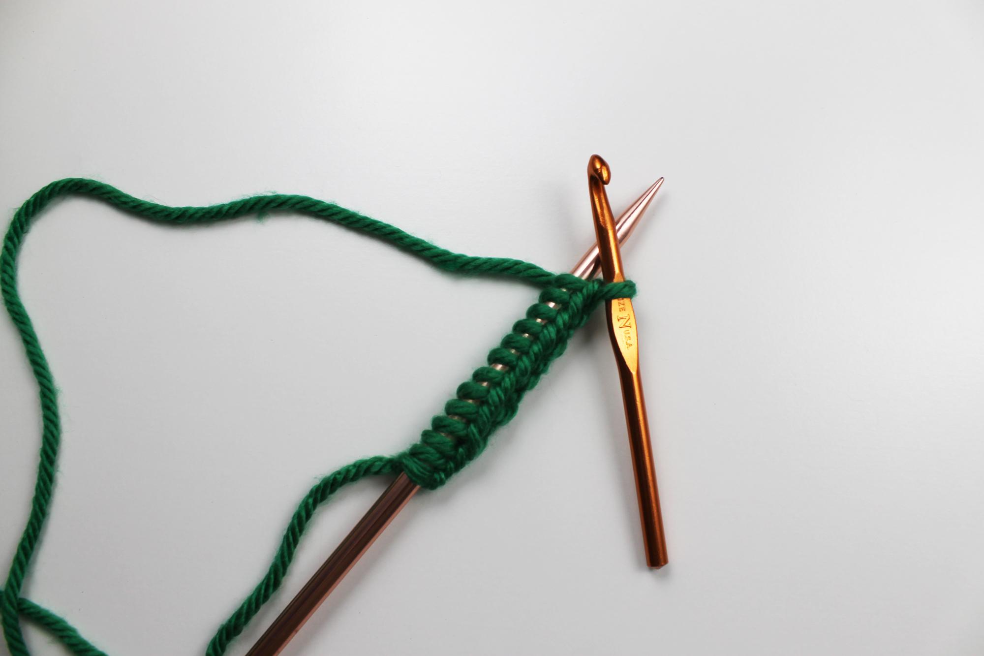 Crochet cast on Step 6