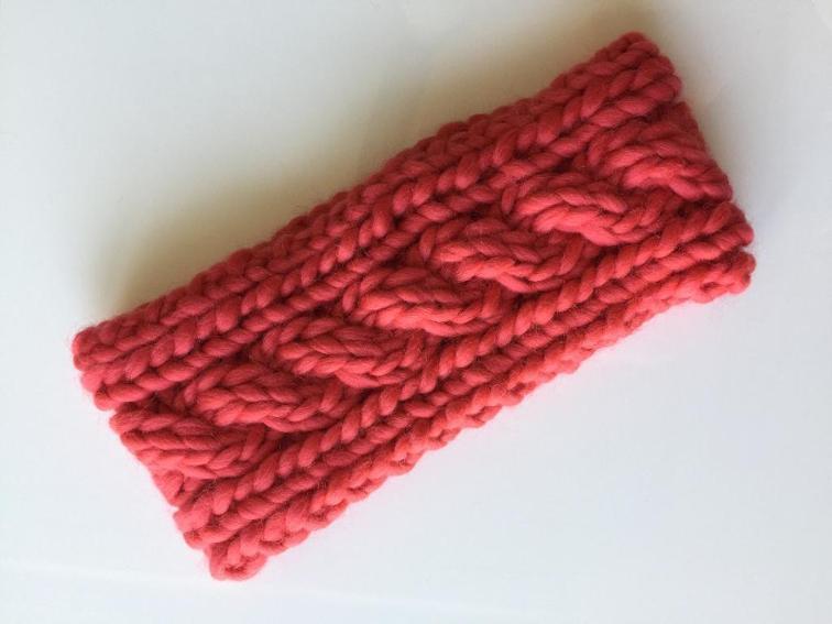 Dahlia Ear Warmer Knitting Pattern