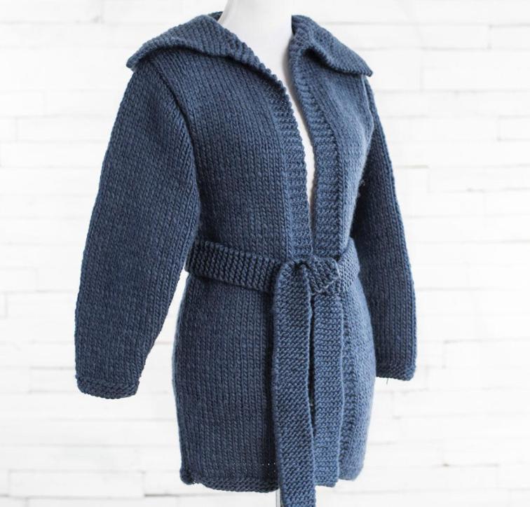 Easy Saturday Cardigan Knitting Kit