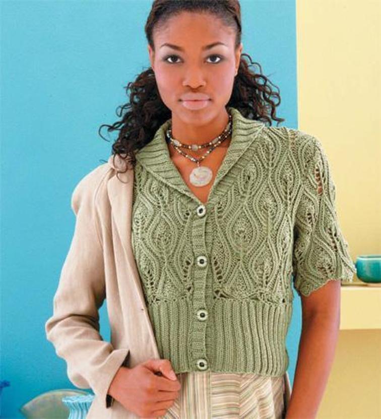 Flame Stitch Cardigan Knitting Pattern