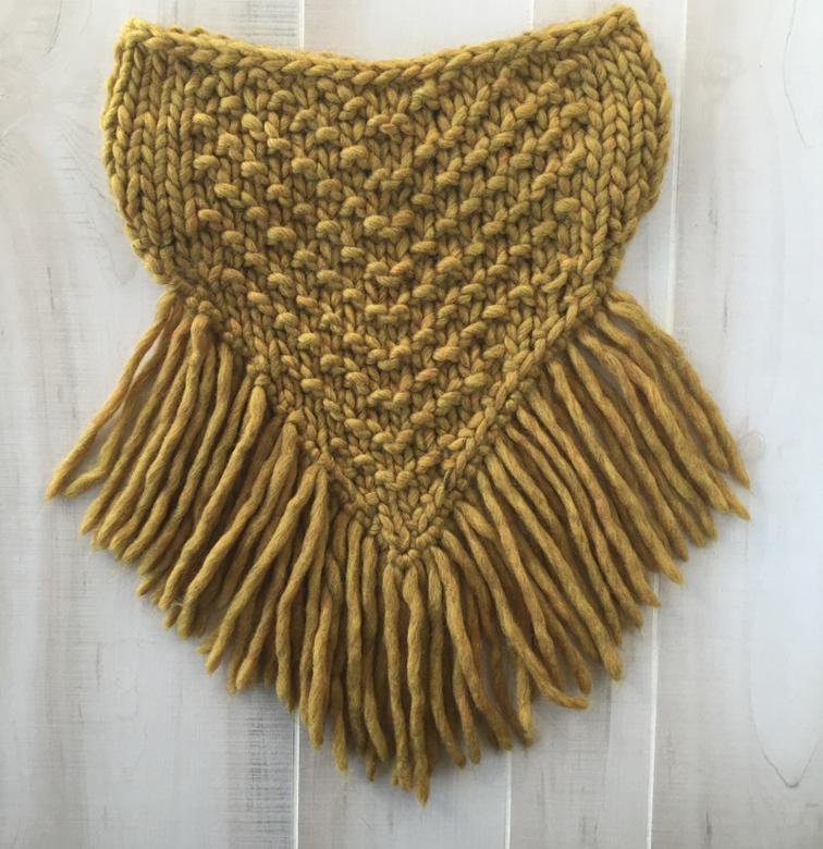 Jenny Fringed Cowl Knitting Pattern