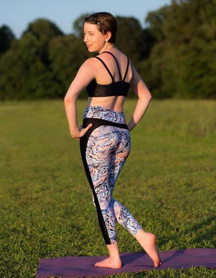 green style stride athletic tights pattern image
