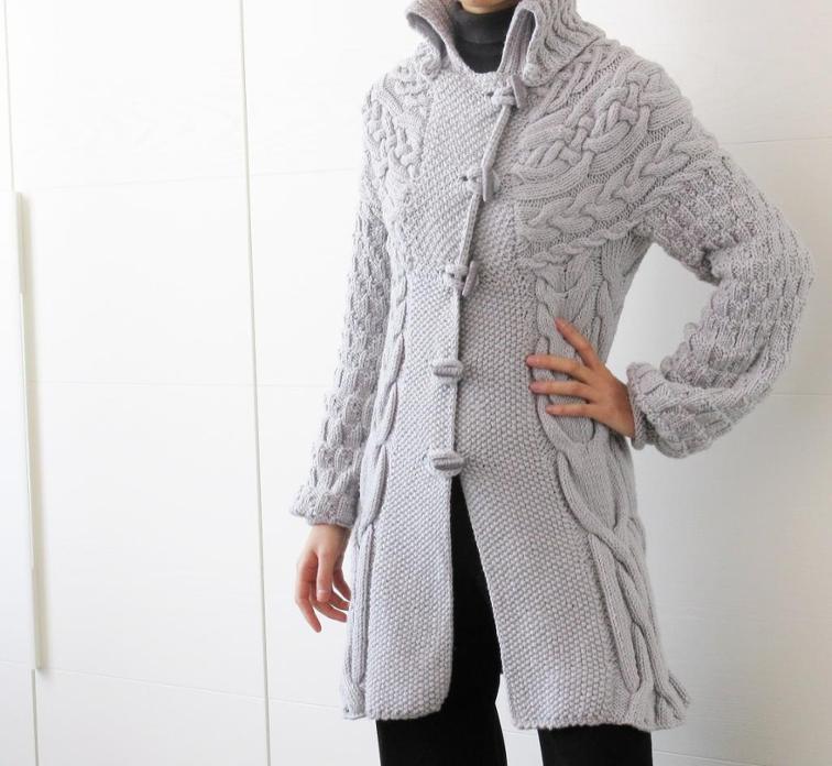 Minimissimi Sweater Coat Knitting Pattern