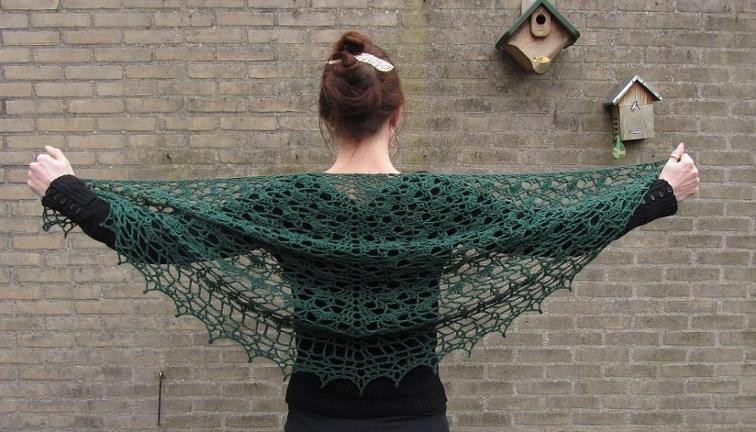 Moss Lace Shawl Crochet Pattern