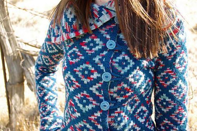 Oblique Motion Coat Knitting Pattern