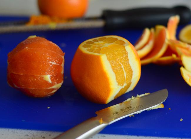 Preparing Oranges for Orange Upside Down Cake