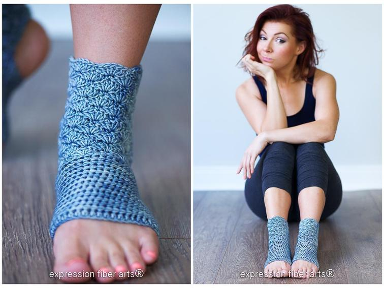 Prana Crochet Yoga Sock Pattern