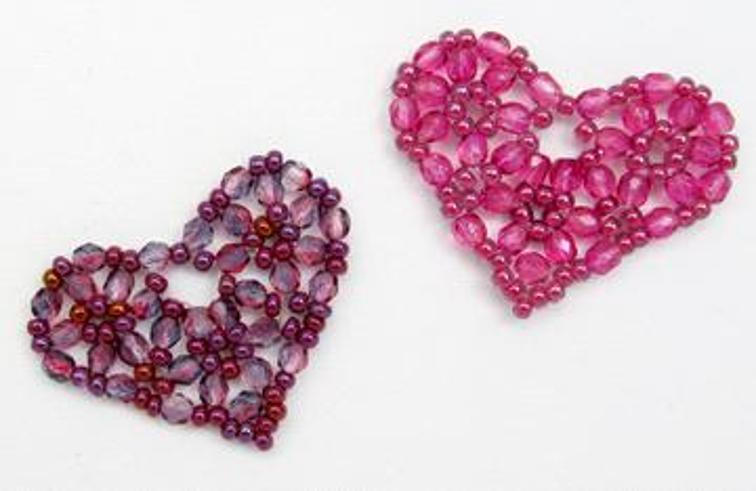 Pretty Beaded Heart