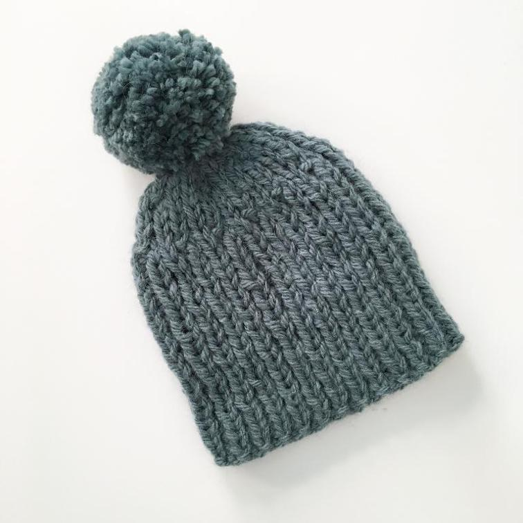 Quick and Easy Bobble Hat Knitting Pattern