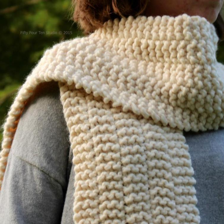 Side Line Scarf Free Knitting Pattern