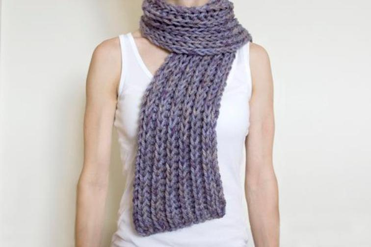 Simple Super Chunky Scarf Knitting Pattern