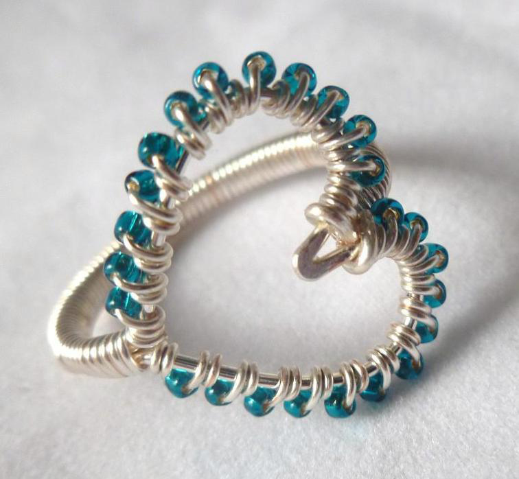 Simple Wire-Wrapped Heart Ring