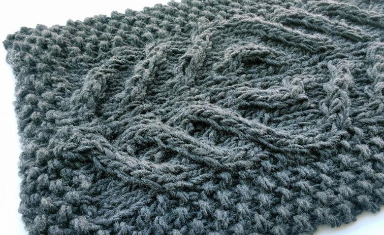 Third Eye Cable Baby Blanket Knitting Pattern