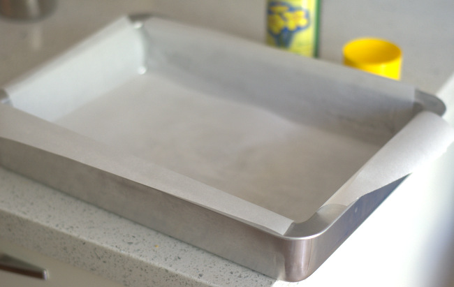 Lining a Baking Pan with Parchment Paper