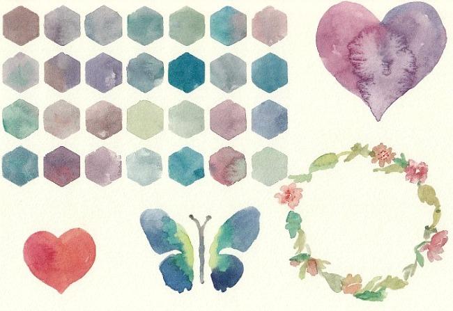 Watercolor Clip Art