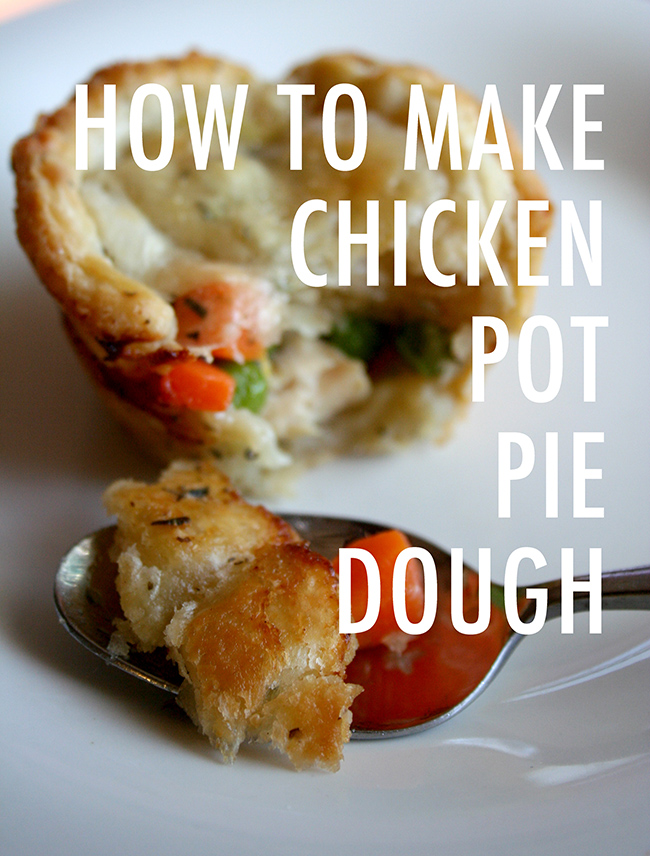 How to make chicken pot pie crust