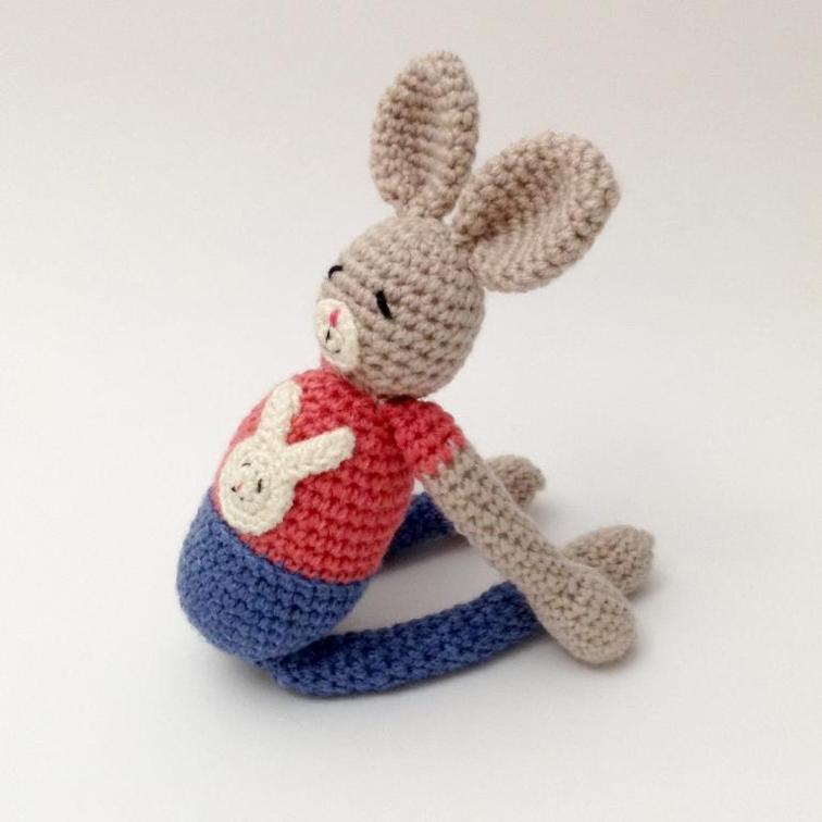 Yoga Bunny Amigurumi Crochet Pattern