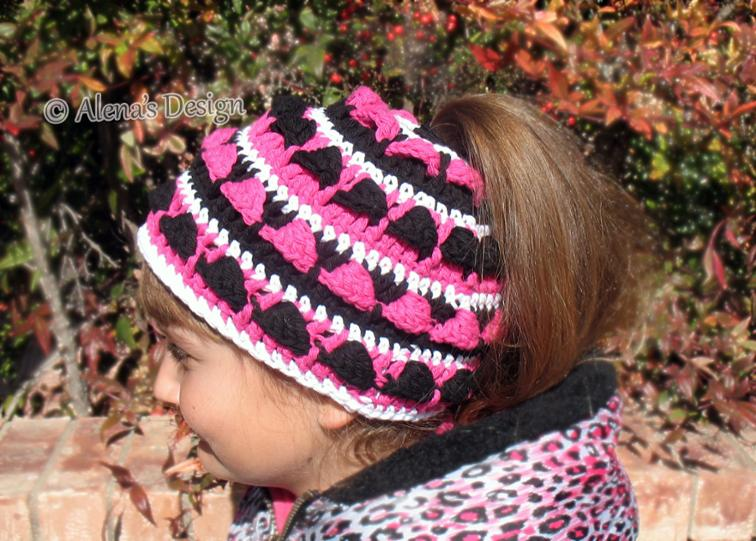 Colored Ponytail Hat Crochet Pattern
