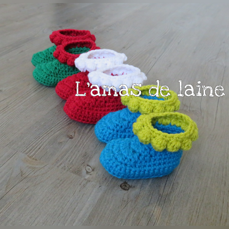Bubble Baby Booties Crochet Pattern