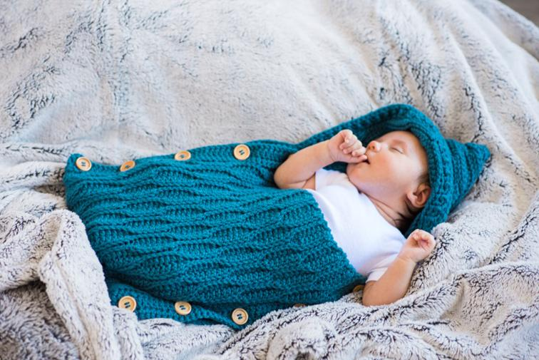 Button Up Baby Cocoon Crochet Kit