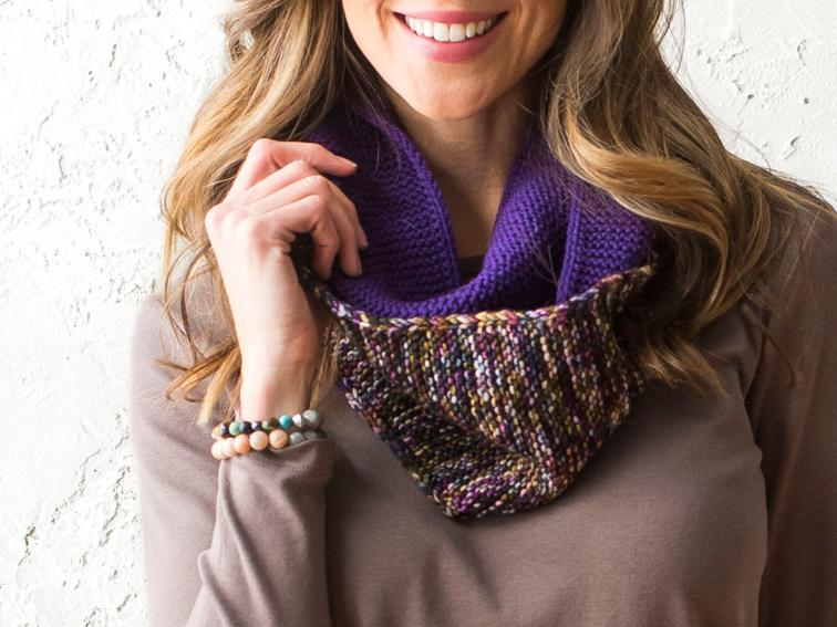 Simple Pretty Cowl Knitting Kit