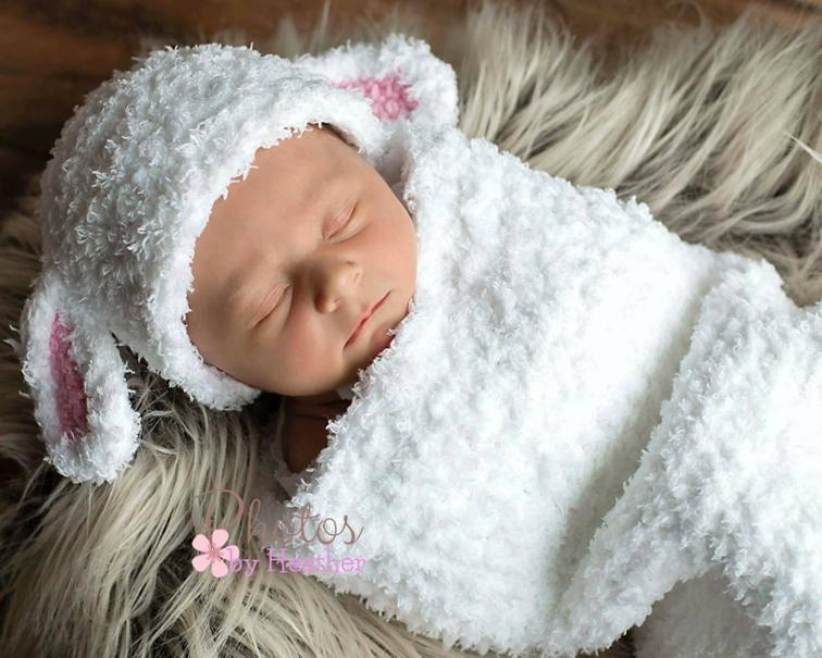 Little Lamb Baby Cocoon Crochet Set