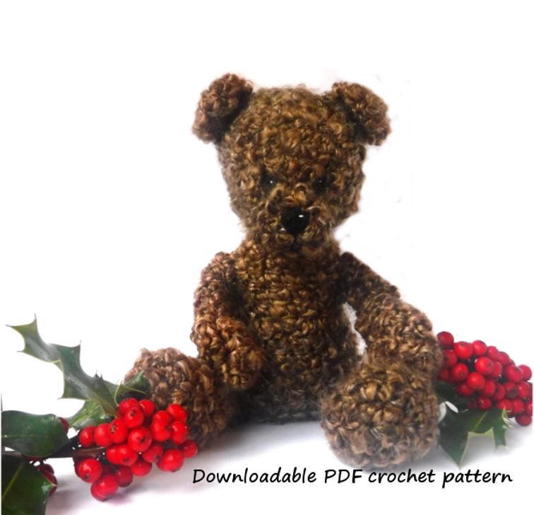 Cheerful Teddy Bear Crochet Pattern