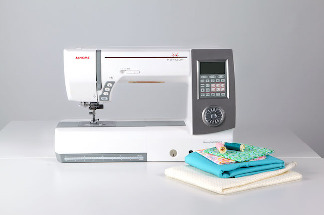 Janome sewing machine and quilting fabric