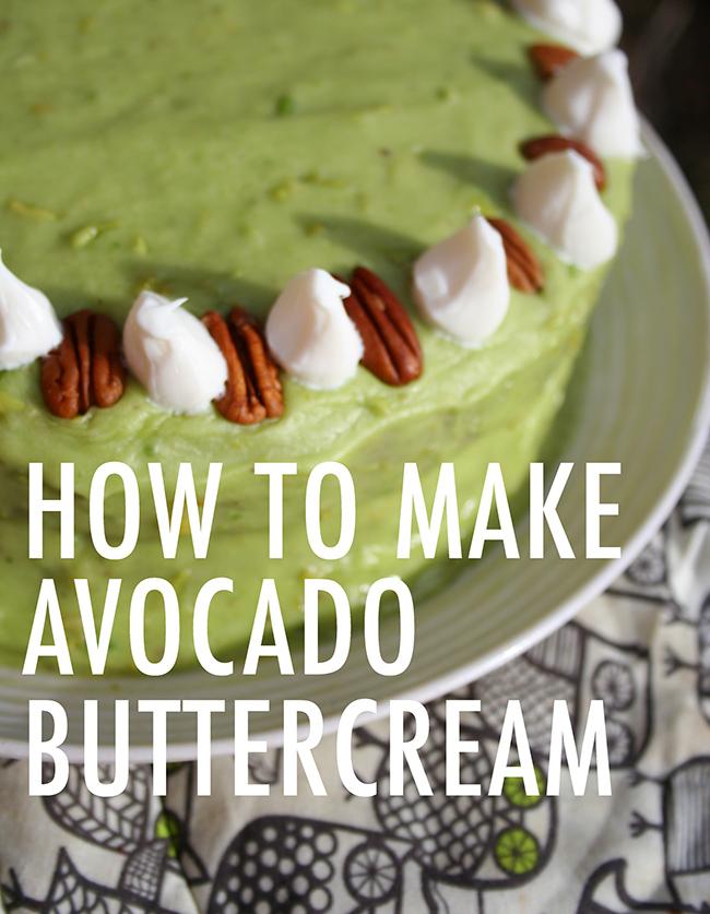 How to make avocado buttercream