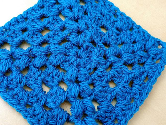 Crochet puff stitch tutorial puff stitch square corner