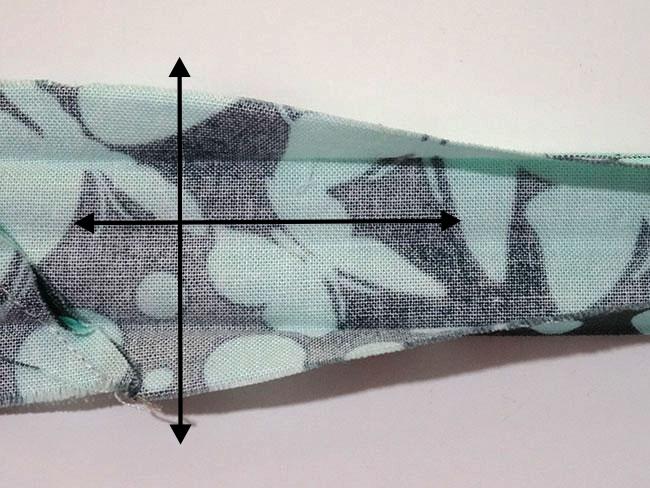 DIY Double Fold Straight Grain Binding